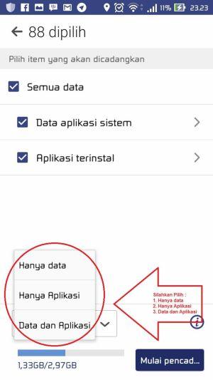 Cara Melakukan Backup dan Restore Aplikasi Data 3