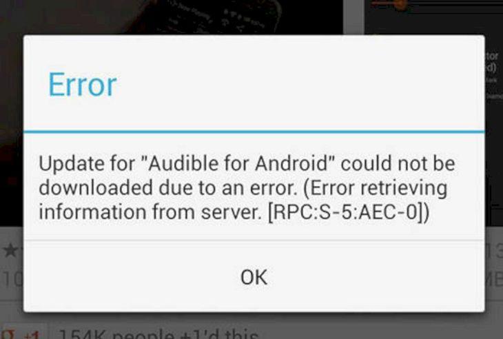 Google Play Error RPC S 5 AEC0