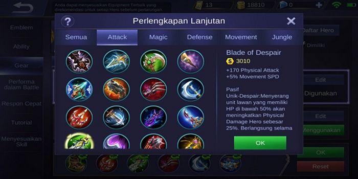 Item Blade of Despair Mobile Legends