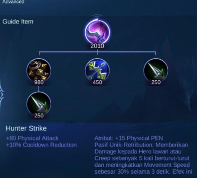 Item Hunter Strike Mobile Legends