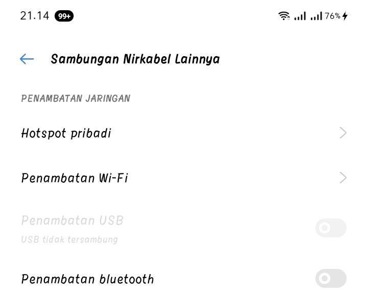 Cara Mengaktifkan Penambatan WiFi