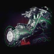 Enjin 150cc dengan 3 Palam Pencucuh.