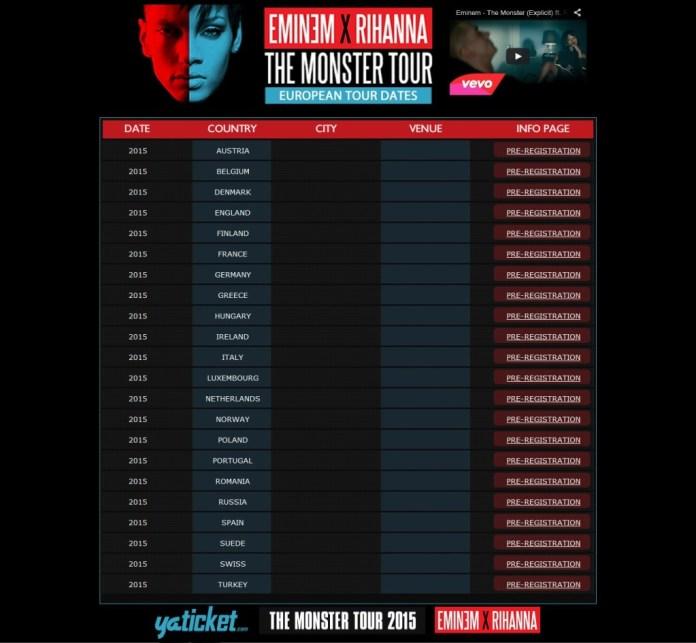 Eminem - Rihanna  - European Tour