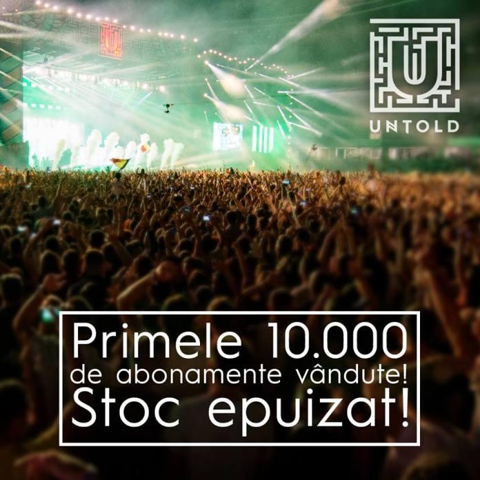 Untold Festival - 10.000 de abonamente vandute