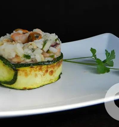 Risotto alle zucchine frutti di mare