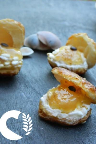 Conchiglie di sfoglia dolci, senza glutine
