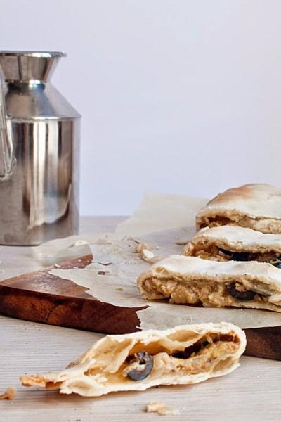 Calzoni di cipollotti con pasta matta senza glutine