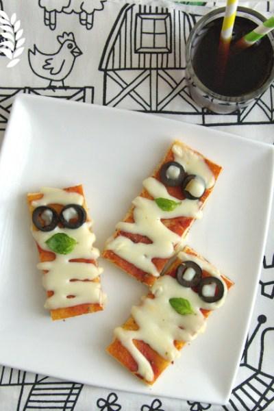 Mummie di pizza rossa senza glutine