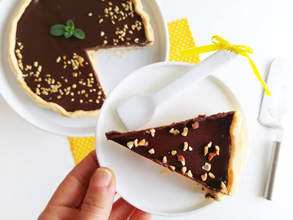 Crostata senza glutine con crema ganache al cioccolato