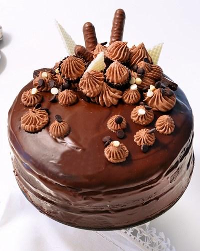 Torta al Cioccolato, ricoperta, senza glutine