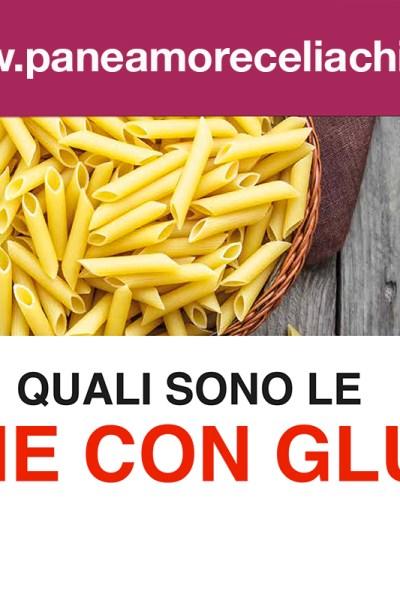 Le farine con glutine