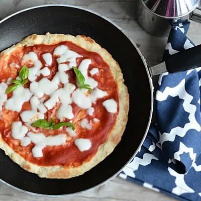 Pizza senza glutine in padella in 15 minuti