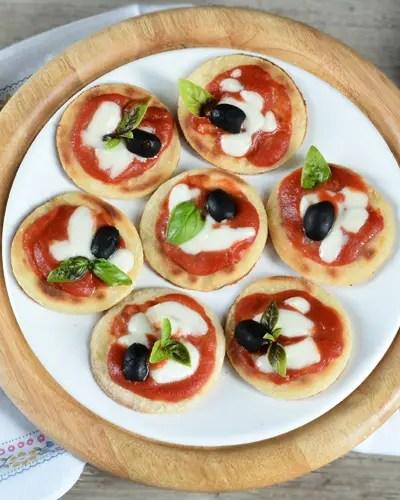 Pizzette velocissime senza glutine in padella