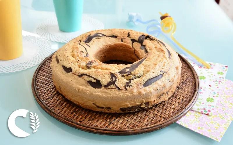 Torta marmorizzata senza glutine e senza lattosio