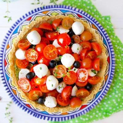 Crostata salata senza glutine, senza cottura
