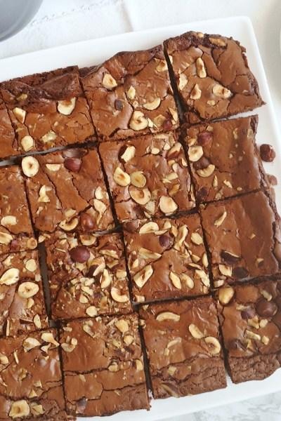 Brownies senza glutine alla nutella e nocciole