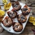 Muffin con gocce di cioccolato senza glutine e senza lattosio