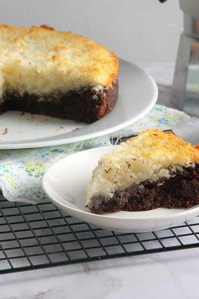 Dream cake cocco e cacao senza glutine e senza uova