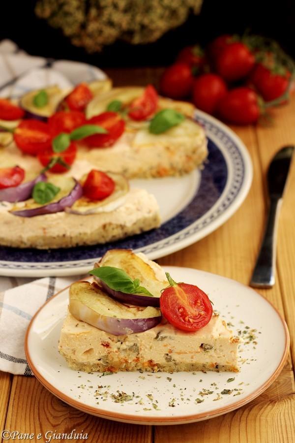 Calabria Cheesecake salata 'nduja olive, melanzane