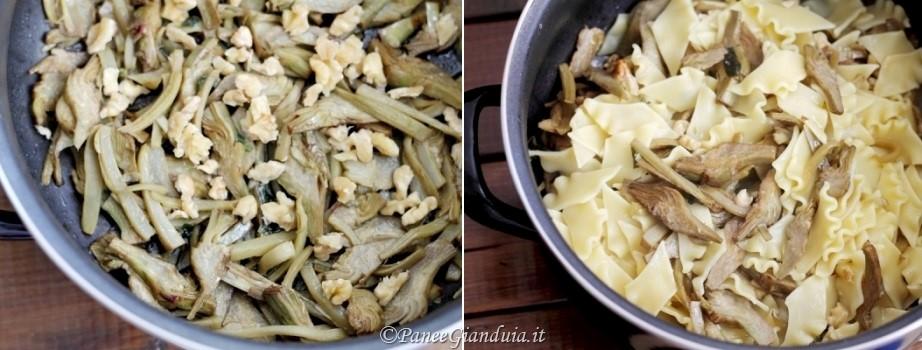 Ricetta Pantacce con carciofi, noci e menta