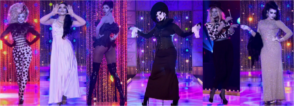 rupauls drag race s08e07 recap black white cinema runway
