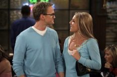 """""""Everything Must Go"""" -- When Barney (Neil Patrick Harris) and Abby (guest star Britney Spears) realize that they have one thing in common -- their mutual hatred of Ted (Josh Radnor) -- the """"couple"""" decides to go to the bar to flaunt their new relationship in Ted's face, on HOW I MET YOUR MOTHER, Monday, May 12 (8:30-9:00 PM, ET/PT) on the CBS Television Network. Photo: Cliff Lipson/CBS ©2008 CBS Broadcasting Inc. All Rights Reserved."""