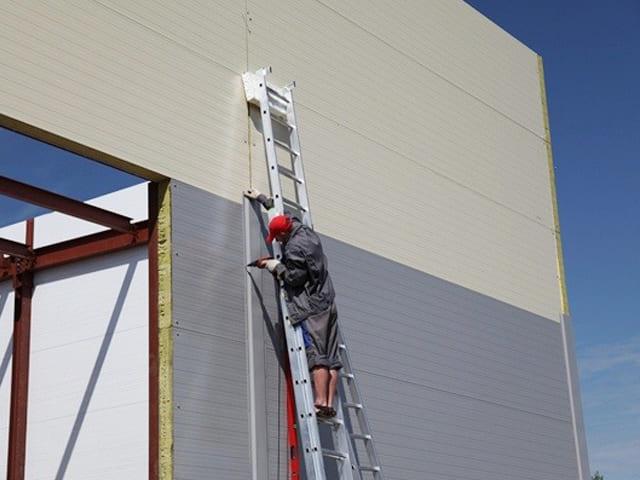 Panel Sandwich Lana de Roca fachada ignifuga