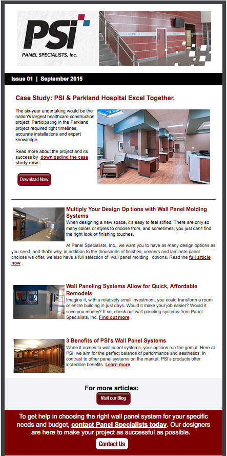 Panel Specialists Inc Email Newsletter