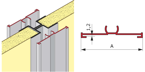 PVC Profile for HPL inserts