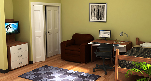Residential Room 15 - Residence Hall Furniture