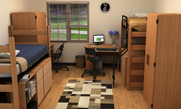 Residential Room 16 - Residence Hall Furniture