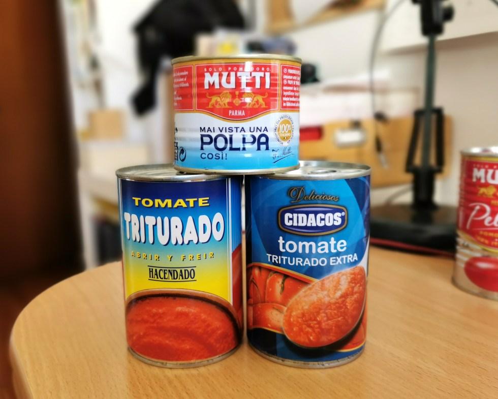 conserva de tomate triturado