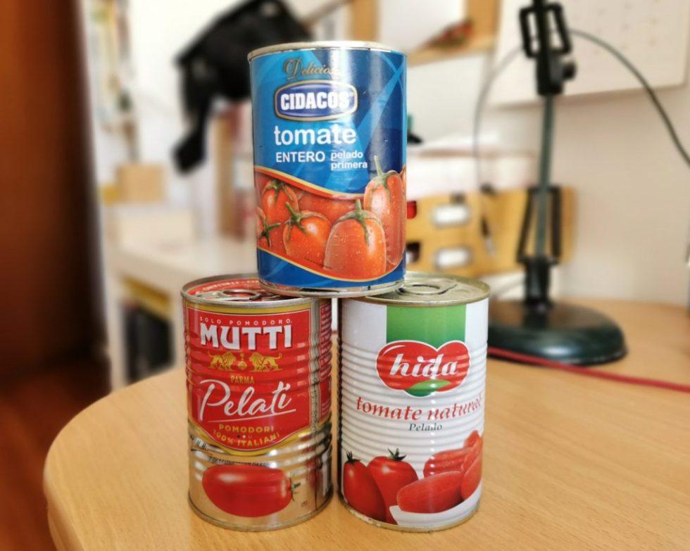 conserva de tomates pelados enteros