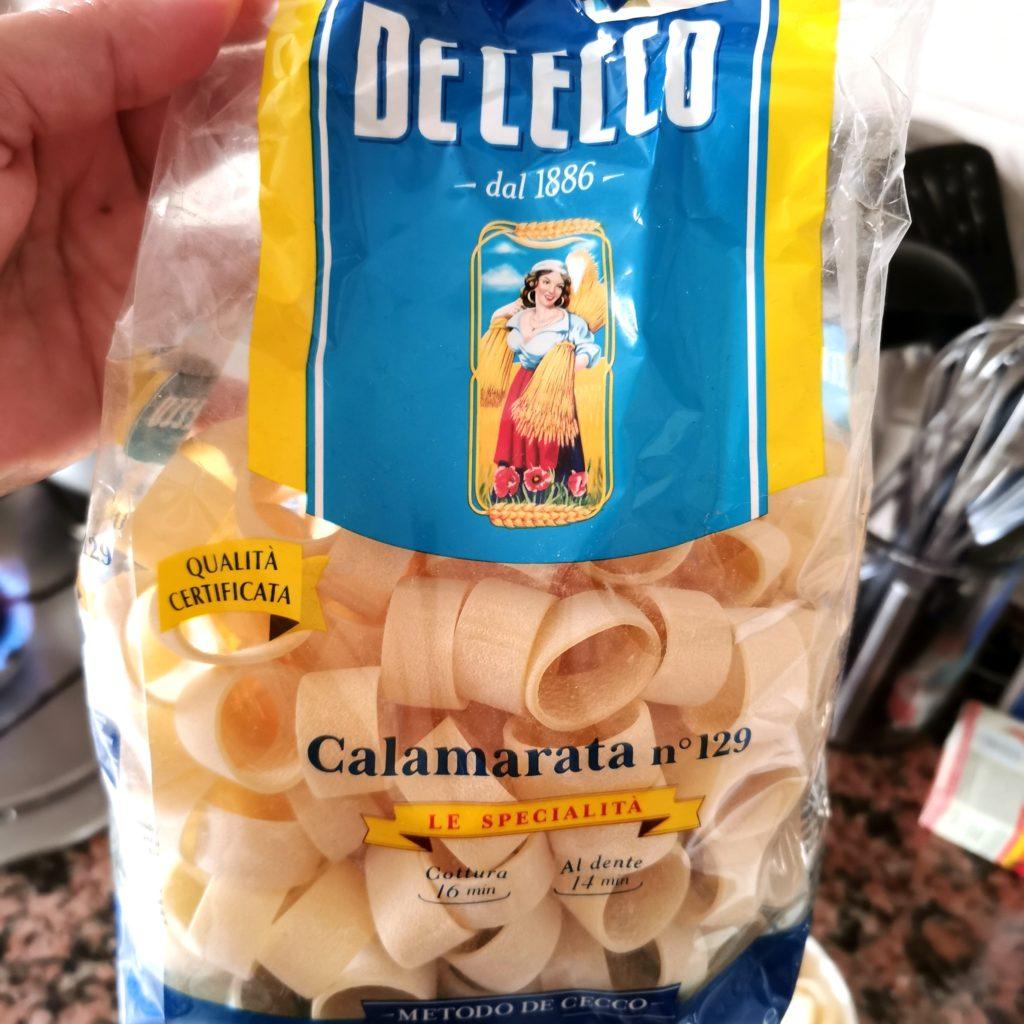 Pasta formato calamarata De Cecco