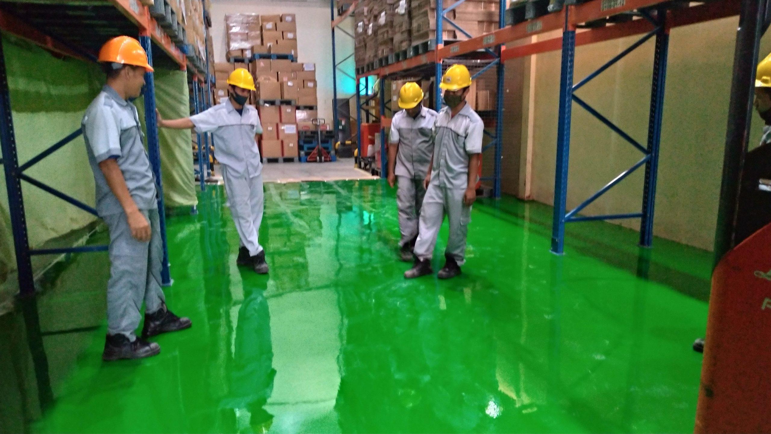 harga jasa pengecatan lantai epoxy lantai