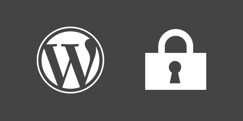 Logo Wordpress y Candado
