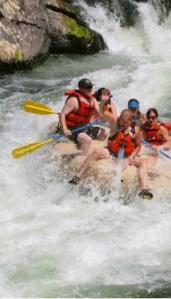 rafting through the alberton gorge