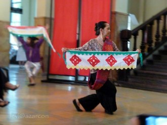 ADC dancer Temay Padero in pangalay choreography with cloths designed with ukkil