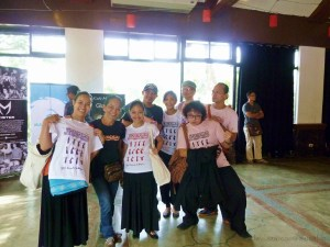 ADC dancers enjoyed Earthdance 2013. Displaying official t-shirts are Louanne, Temay, Karen, Jimo, Mabel, Mannex, Levi and Rama.
