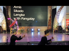 Bula'bula dancers Punch Gavino and Mariel Francisco blend with the martial arts performers on stage.