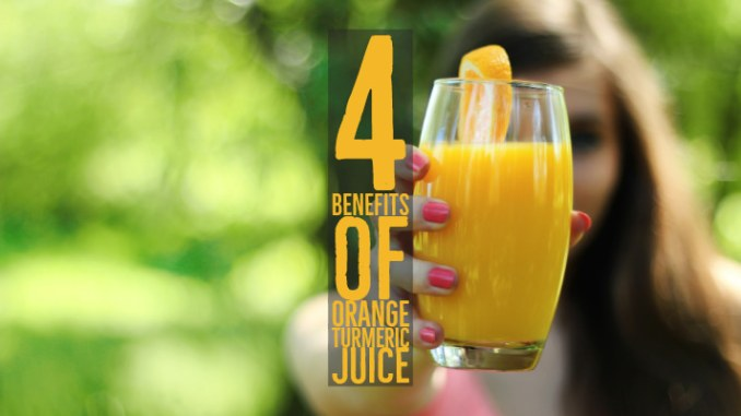 Benefits from Orange Turmeric Juice