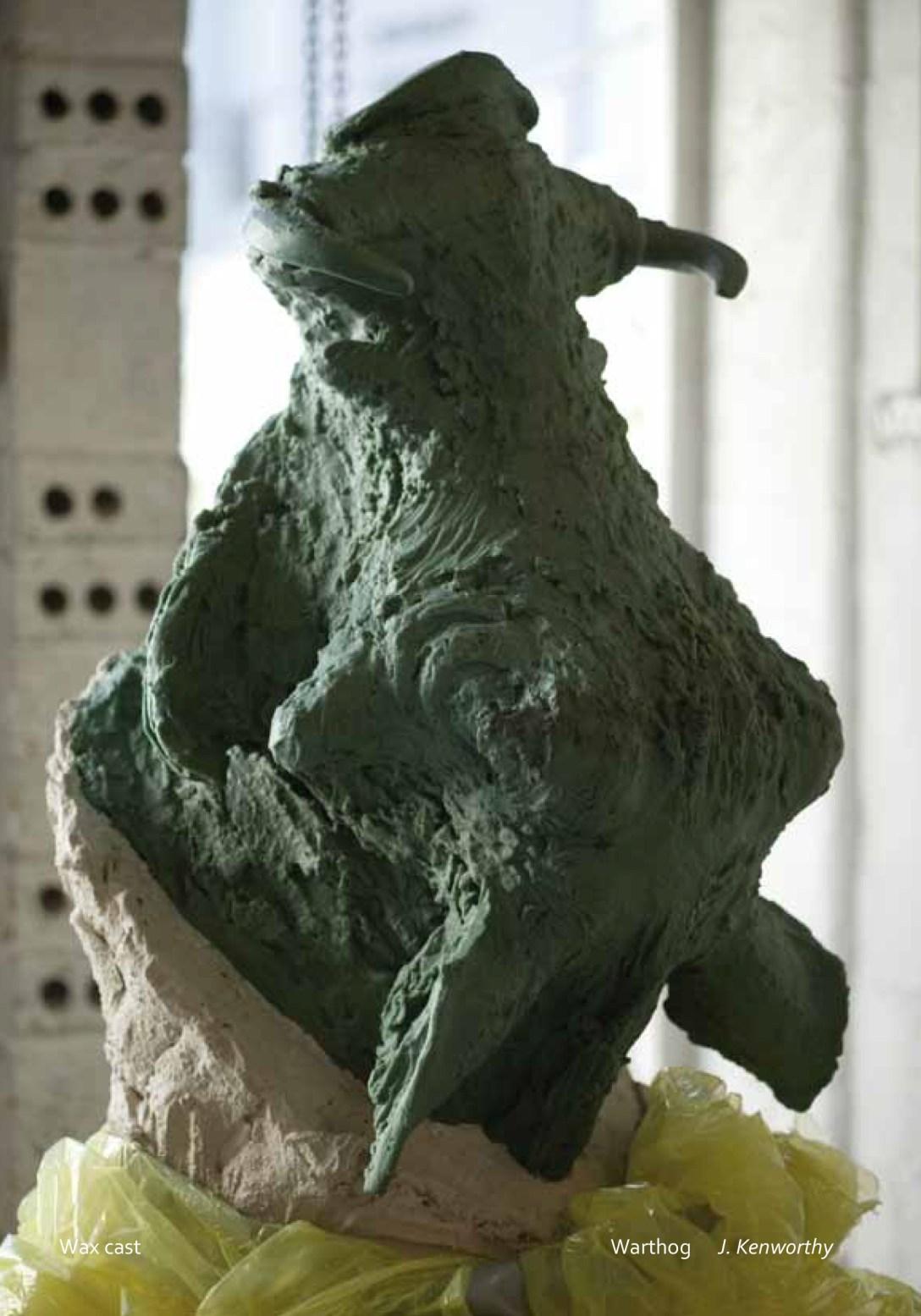 Jonathan Kenworthy 'Sculpture' Warthog during 'lost wax' process at Pangolin Editions