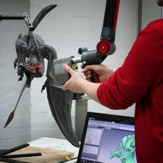 '3D laser' scan of 'Nick Bibby' Fire Drake Dragon at Pangolin Editons