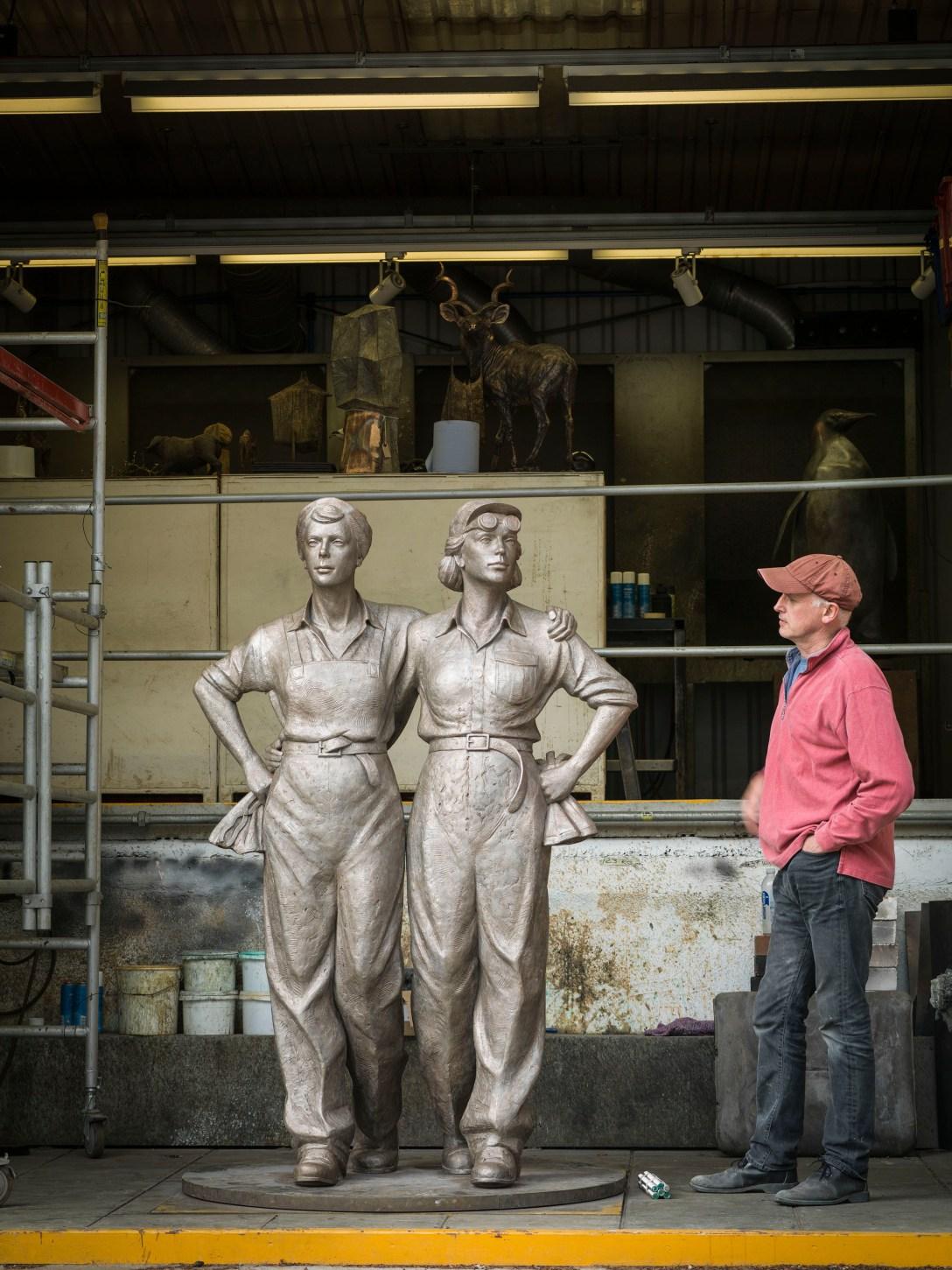 'Bronze' 'sculpture' by Martin Jennings, 'cast' at Pangolin Editions