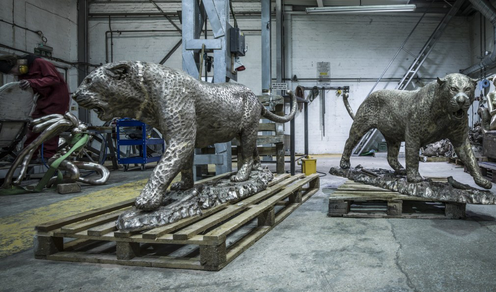 Murray Grant 'bronze' 'Sculpture' during 'Metal work' 'finishing'