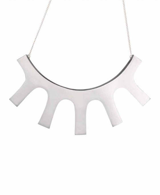 Jon Buck 'necklace' which has been 'Cast' in 'Silver' by Pangolin Editions