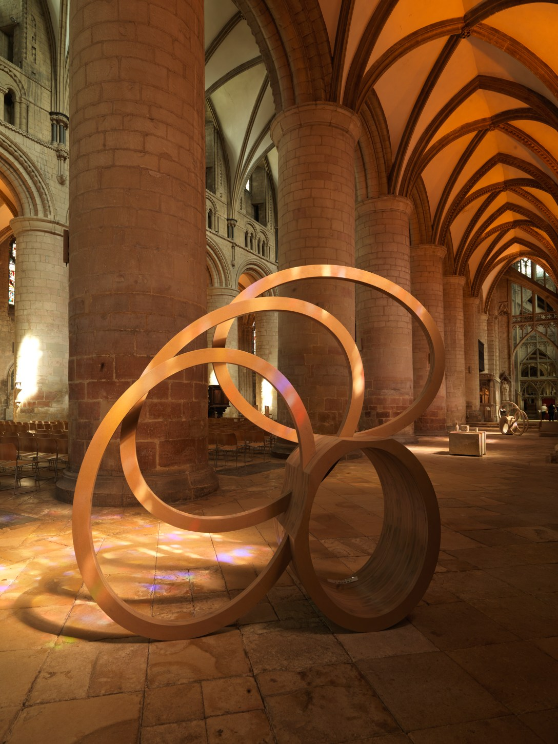 Nigel Hall 'Bronze' 'Sculpture' at Gloucester Cathedral