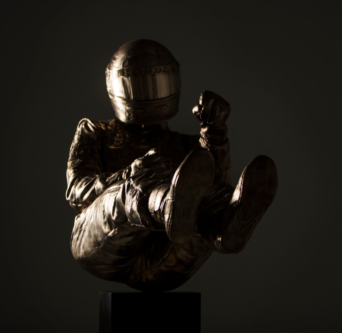 Life size 'Senna' in 'bronze' by Paul Oz 'cast' at Pangolin Editions