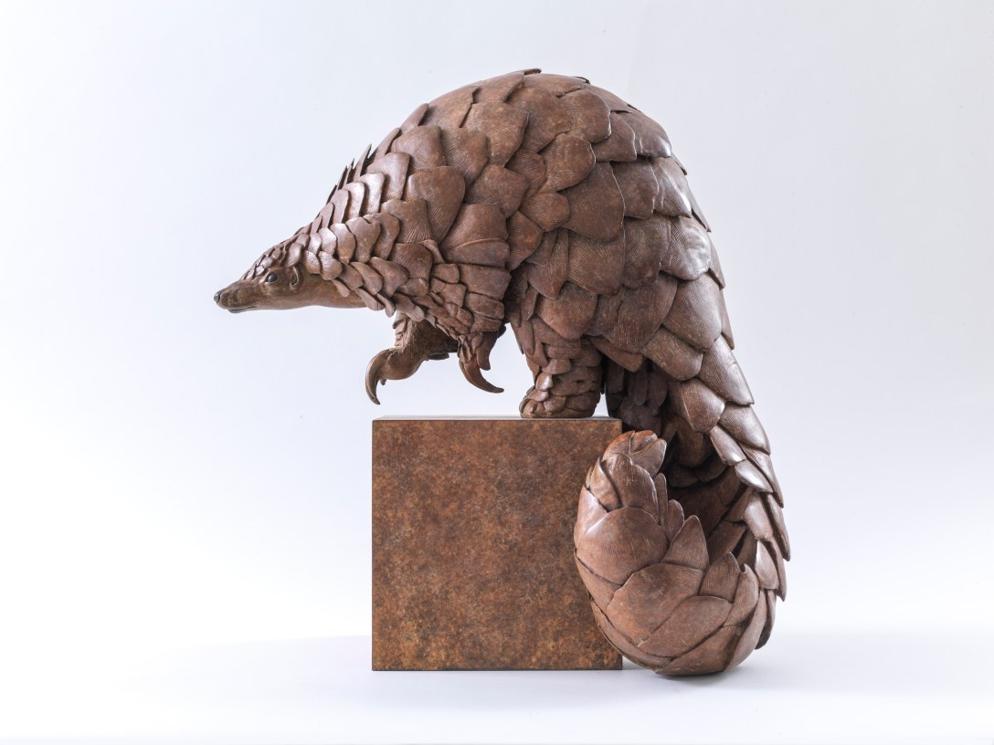 'Pangolin' sculpture cast by Pangolin Editions, photography by Steve Russell Studios