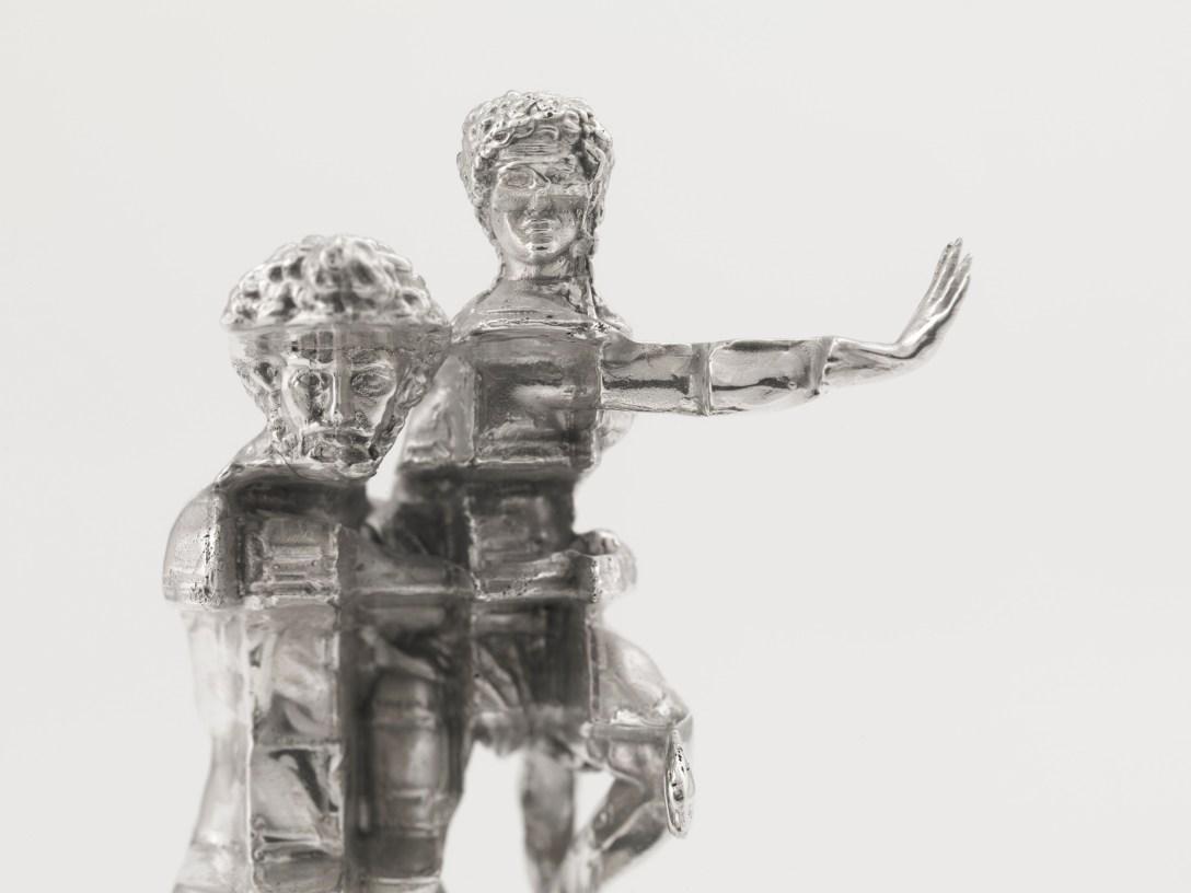 'Cast' 'Silver' of Zac Eastwood-Bloom's 'Sculpture' The Hidden One / Pluto
